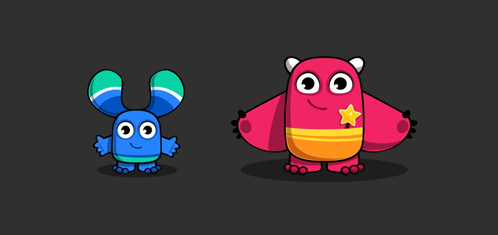 طرح اولیه شخصیت های ریبو و رابی