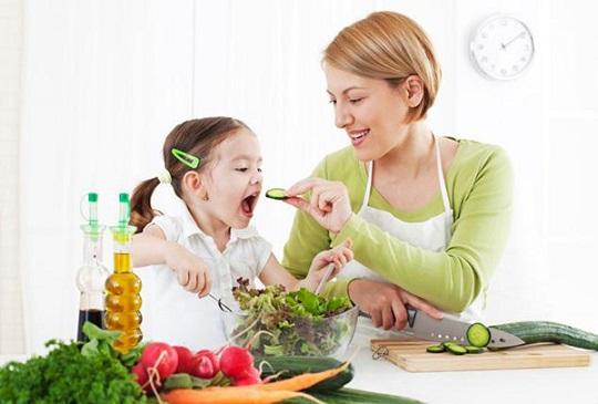 در نظر گرفتن ساختار و ایجاد تنوع در خوردن سبزیجات