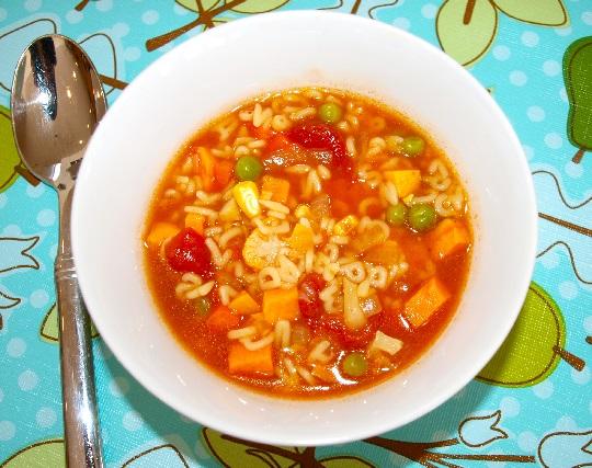 سوپ سبزیجات برای کودکان