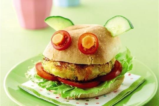برگر سبزیجات برای کودکان